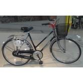 จักรยานแม่บ้าน ทรงโบราณ คลาสสิค เฟรมเหล็กกล้า สีดำ ยี่ห้อ Pioneer รุ่น JOCKEY