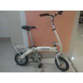 จักรยานพับขนาดเล็ก เฟรมอลูสีขาว TIDY