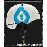 หมวกกันน็อคสเก็ตบอร์ด SIX SIX ONE รุ่น Dirt lid Icon ปี 2014 สีขาว-ฟ้า