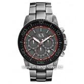 Armani Exchange Watch, Men\'s Chronograph Grey Aluminum Bracelet 46mm AX1208
