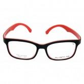 กรอบแว่นสายตาพร้อมเลนส์ PLASTA P3 BLACK/RED