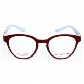 กรอบแว่นสายตาพร้อมเลนส์ PLASTA P11 Wine/Light Sky Blue