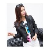 เสื้อแจ็คเก็ตหนัง เสื้อหนังแฟชั่น สีดำ หนังด้าน แขนยาว เข้ารูป [MK-2088]เสื้อแจ็คเก็ต เสื้อหนังแฟชั่