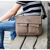 กระเป๋าแฟชั่น MMG สีน้ำตาลใบกลางแฟชั่นผู้ชายกระเป๋ายีนส์งานเนี้ยบเทรนด์ฮิตติดชาร์ท  003626