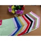 กางเกงในไร้ขอบ สีพื้น ผ้านิ่ม ใส่สบาย (FREE SIZE) 1 แพ็ค 10 ตัว คละสี