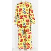 ชุดนอนเด็กชาย ไซส์ 4-6 แขนยาว ขายาว ผ้าคัตตอน (คอปก กระดุมผ่าหน้า) ลายทอมแอนด์เจอรี่ชีสสีฟ้าชมพูแดง