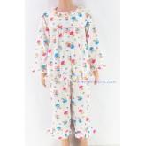 ชุดนอนเด็กหญิง ไซส์ 2-3 แขนยาว ขายาว ผ้ายืด (แบบคอระบาย กระดุมผ่าหน้ากุ๊น) คลิกดูลายเพิ่มเติม