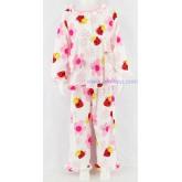 ชุดนอนเด็กหญิง ไซส์ 4-6 แขนยาว ขายาว ผ้ายืด (แบบคอระบาย กระดุม 2 เม็ด)  คลิกดูลายเพิ่มเติมค่ะ