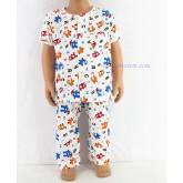 ชุดนอนเด็กชาย ไซส์ 1-2 แขนสั้น ขายาว ผ้ายืด (แบบคอกลม กระดุมผ่าหน้า) คลิกดูรายละเอียดเพิ่มเติม
