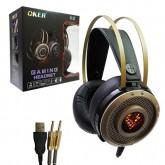 OKER หูฟังเกมมิ่ง Hi-fi stereo headphones รุ่น K2(สีดำ/ทอง)