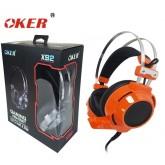 OKER Hi-Fi stereo headphone Gaming Headset รุ่น X92(สีส้ม)