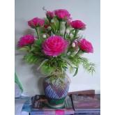 ดอกไม้ประดิษฐ์จากผ้าใยบัว
