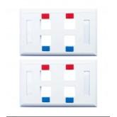 G-net หน้ากากพลาสติก 4 ช่อง w/Icon  Labels รุ่น GC-FP-US4-2 2ชิ้น (สีขาว )