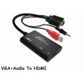 VGA to HDMI Converter รุ่น ZE-577 (แปลง VGA และ Audio เป็น HDMI)