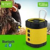 ลำโพง Bluetooth 4.0 สำหรับเดินป่า ท่องเที่ยว รุ่น BV350 Mini สีเหลือง