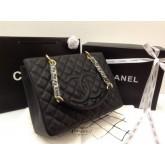 Chanel GST Cavier GHW หนังคาเวียร์สีดำ หนังแท้งานเกรดดีที่สุด อะไหล่ทองค่ะ
