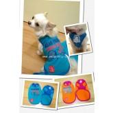 SALEเสื้อสุนัขผ้าเนื้อดีแขนกุดเนื้อดี สกรีนอกและหลังยี่ห้อOcean Pacific Japanสีส้ม ไซส์3, 4