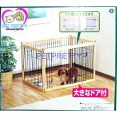 คอกไม้ญี่ปุ่นสำหรับสุนัขไซส์เล็ก(S)รุ่นสลัก สามารถต่อขยายเพิ่มได้ ทนทาน
