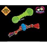 ของเล่นสุนัข Petstages Doggy Duo Chew Pack Chew Toy ชุด2ชิ้น เชือกและยางกัด
