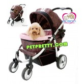 รถเข็นสุนัขนำเข้าIbiyaya รุ่นNB Elegantหลังคาเปิดได้2ด้านสีน้ำตาล รองรับสุนัขได้ถึง30กก.(ส่งฟรี)