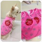 เสื้อสุนัข เสื้อกล้ามผ้ายืดเนื้อดีใส่สบาย เสื้อนำเข้าแบรนด์ญี่ปุ่น Pipidog ชมพู CROWN SIZE2