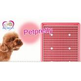 +ใหม่+ห้องน้ำสุนัข มีตะแกรงรองแบบแบนขนาดใหญ่ มีเสาปรับได้อิสระ รุ่นใหม่มีAG+ป้องกันแบคทีเรีย(สีชมพู)