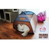 Cat tent เต็นท์แมว2in1 เป็นทั้งที่เล่นและที่นอนให้แมวได้เพลิดเพลิน สำหรับคนรักแมว สีเขียวมะนาว