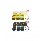 ถุงเท้าสุนัข-แมวนำเข้า ไซส์ใหญ่พิเศษสำหรับสุนัขพันธุ์โต  ลายผึ้งสีเหลือง ไซส์4XL