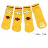 ถุงเท้าสุนัข-แมวนำเข้าไซส์ XL  รุ่นข้อเท้าสูง-มียางกันลื่นที่ใต้เท้า(จัดส่งฟรี)
