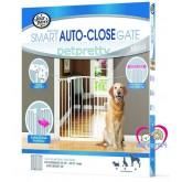 รั้วกั้นประตูและบันไดUSA FOUPAWS Auto Close Gateป้องกันสุนัขเข้าออกทำจากเหล็กทนทาน