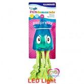 ของเล่นสุนัข มีแสงLED Grriggles FUNdamentals Blinky Squidขนาด 11 นิ้ว-สีชมพู