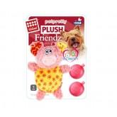 ของเล่นสุนัข GigWi  Plush Friendz  Pink  pig with refillable squeaker หมูมีเสียงปิ๊บๆ