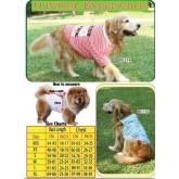 เสื้อสุนัขไซส์ใหญ่มาก BIG DOGสีฟ้าสกรีนลายHBD BD-405 size S(อก74-76ซม.)
