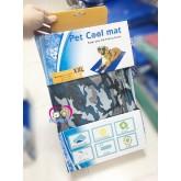 ส่งฟรีCool gel (China)  for pet แผ่นนอนลดอุณหภูมิสำหรับสัตว์เลี้ยงแบรนด์จีน  ขนาด 2XL 78X93 cm