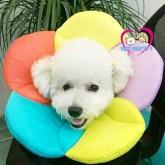 คอลล่าร์ ปลอกคอกันเลียของสุนัข ดอกไม้ แบบผ้านุ่ม ไม่บาดคอ ไซส์ XLรอบคอ 34.1-38เซน