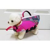 เสื้อชูชีพสุนัข ลายกราฟฟิกสีชมพู ไซส์ XS ชิวาวา ปอม มอลทีส  ยี่ห้อ PUPPE รอบตัว32-46เซน
