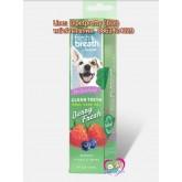New TropicleanFresh Breath Clean Teeth Gelเจลสลายคราบหินปูนสุนัขและแมวขนาด 2 ออนซ์กลิ่นเบอร์รี่