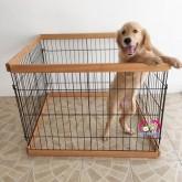 คอกสุนัข คอกไม้ งานไทย แข็งแรง ไม่มีประตู ขนาด 83x 83xส62เซน ต่อขยายได้