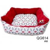 ที่นอนน้องหมาน้องแมว Butter แบบหนานุ่มลายน้องหมาใหญ่เรียบเก๋ สำหรับสุนัข1-7กก.สีแดงกราฟฟิก