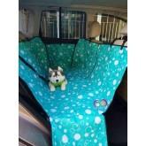 ผ้าคลุมเบาะรองหลังรถยนต์กันขนสุนัข-แมวนำเข้าอย่างดี สีฟ้าฟองสบู่ ขนาด 160x130x3ซม. แบบ2ที่นั่ง.