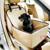 Pet Car seat Dog Lemi 2 In 1 ที่นั่งคาร์ซีทในรถของสุนัข  สำหรับสุนัข1-8kg สีเบจ
