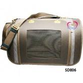 กระเป๋าใส่สุนัขสไตล์สปอร์ต เปิดหน้า สีน้ำตาล หมุดทองยี่ห้อ Butter สุนัข1-5 กก