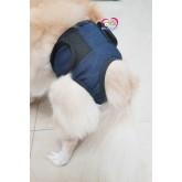 กางเกงในสุนัข ตัวเมีย  ผ้ายีนส์ ใส่ง่าย มีตีนต๊กแก ยี่ห้อ Pet soft XXS เอว  15-30 cm