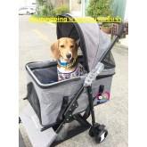 รถเข็นสุนัข รถเข็นหมา ใช้เป็นคาร์ซีทได้ แบรนด์จีน รุ่น4ล้อ  รับนน.25กก