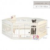 คอกน้องหมา IRIS  Japan สีครีม สินค้านำเข้าเกรดพรีเมี่ยม CL606E   6เหลี่ยม