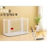 คอกน้องหมา แมว อีพ็อกซี่สีขาว IRIS PCSC901 cage Japan มีถาดรองและหลังคา สำหรับหมาเล็ก