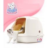 ห้องน้ำแมว Catidea CL101 XL มีที่สะบัดทราย สีครีม อย่างดี  size  47xลึก64x ส49 cm