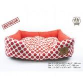Puppe  ที่นอนน้องหมา มีสีแดงจุด (เบอร์S)สุนัข1-10กก. ที่นอนสุนัข ขนาด กว้าง19 ยาว22.5 สูง6.5นิ้ว