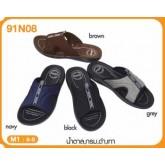 ADDA รองเท้าแตะยางสวม ผู้ชาย สีดำ