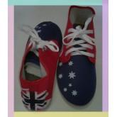 รองเท้าผ้าใบแฟชั่น หุ้มข้อ ลายธงชาติอเมริกา ผู้หญิง